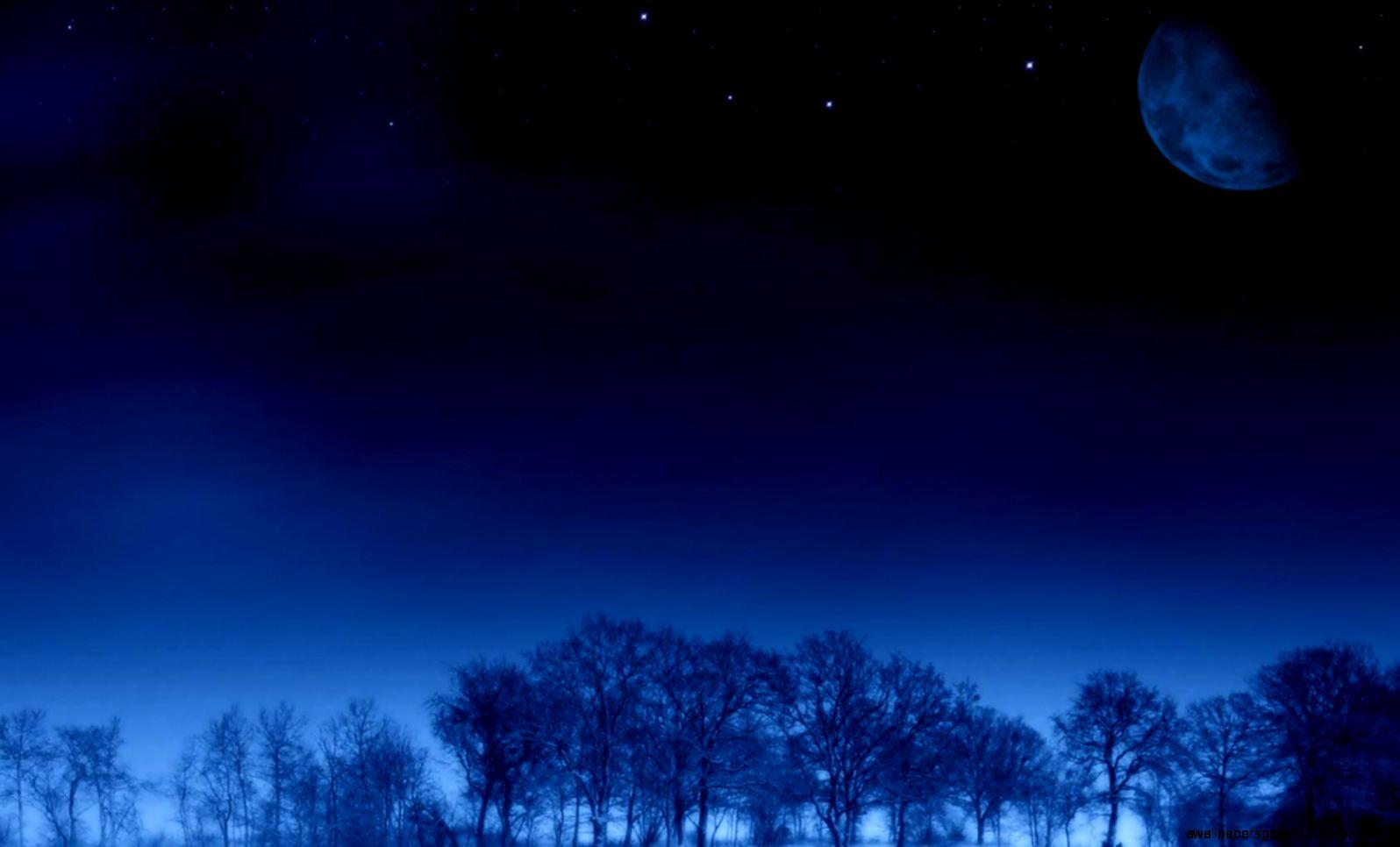 Night Sky Stars Moon Wallpaper   Wallpapers Gallery