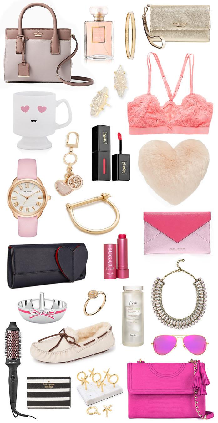 882fd91c89f ... of Gold Bangle // Kate Spade Wristlet // Druzy Earrings // Heart Eyes  Emoji Mug // Lace Bralette // Pink and Gold Watch // Tory Burch Key Chain  // YSL ...