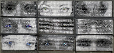 Mosaic Art FIesta 2017 Complete Eyes Mosaic Portrait