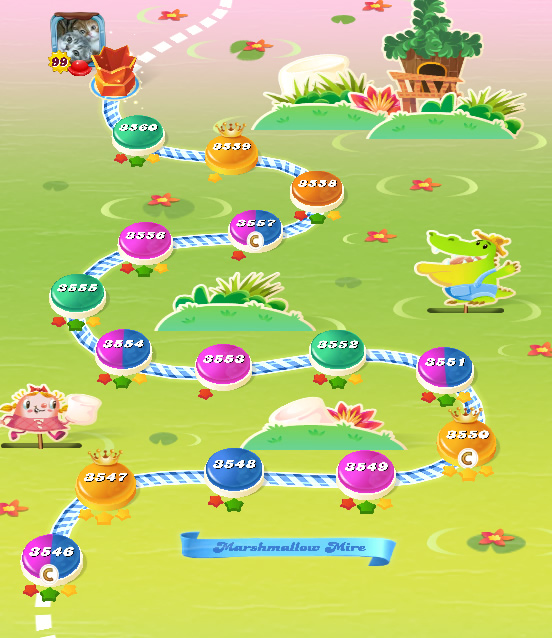 Candy Crush Saga level 3546-3560