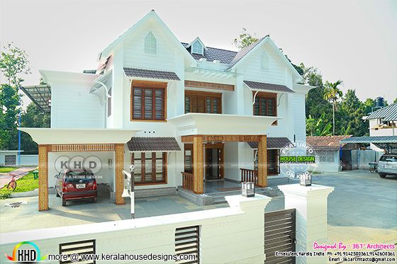 Kerala style Finished home elevation view 1