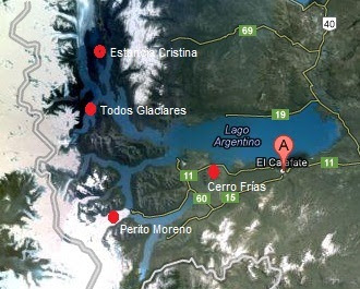 Mapa turístico de El Calafate