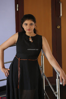 Khanishka new telugu actress in Black Dress Spicy Pics 39