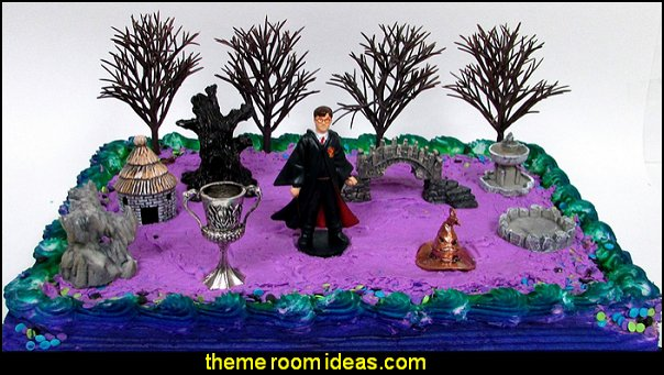 12 Piece HARRY POTTER Themed Birthday Cake Topper Set