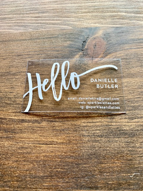 Customized clear business cards
