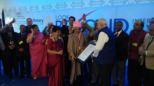 District 3080 honours Past Rotary International President Raja Saboo