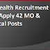 WB Health Recruitment 2016 Apply 42 MO & Medical Posts