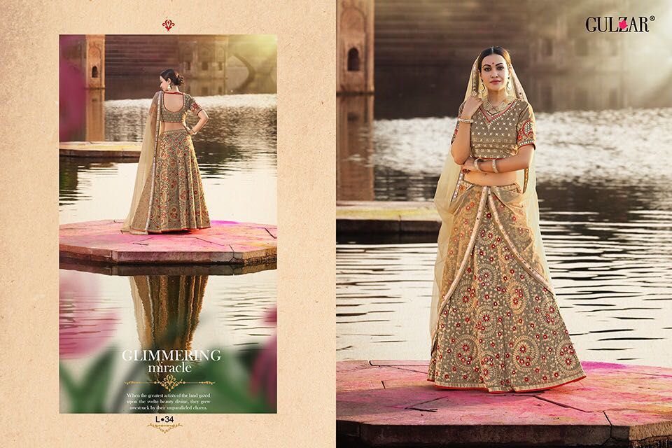 Gulzar l-31 series heavy bridal lehanga's collection