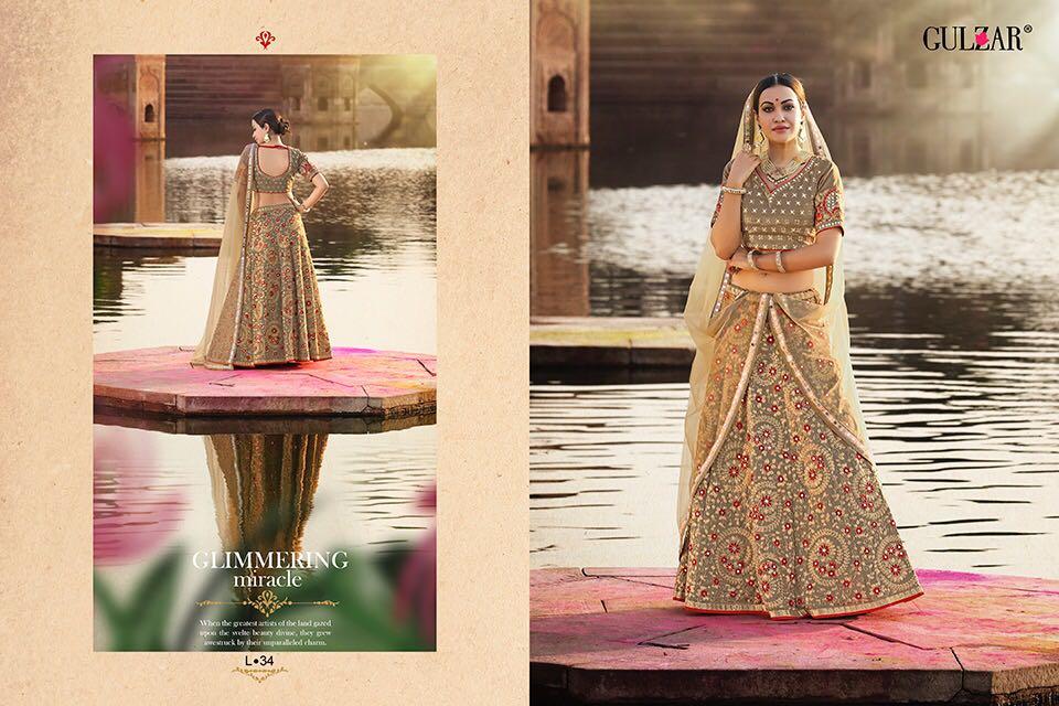 Gulzar l-31 series heavy bridal lehanga's collection