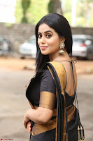 Poorna in Cute Backless Choli Saree Stunning Beauty at Avantika Movie platinum Disc Function ~  Exclusive 045.JPG