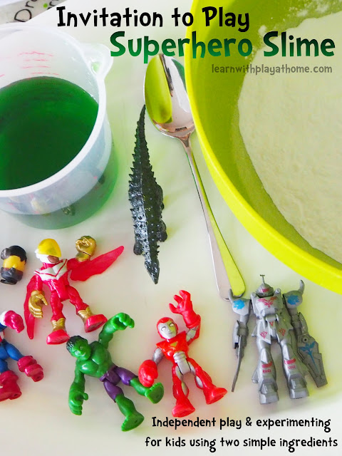 Invitation to Play. Simple Superhero Slime
