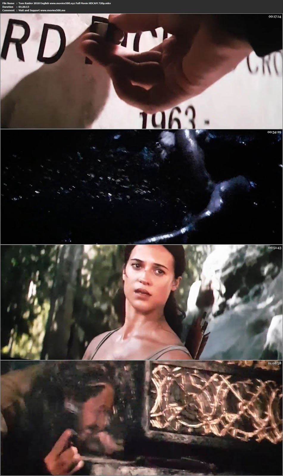 Tomb Raider 2018 English Full Movie HDCAM 720p at movies500.bid