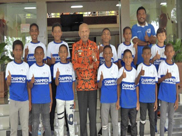 Benhur Tomi Mano Lepas Tim SSB Batik Jayapura ke Aqua Danone National 2018