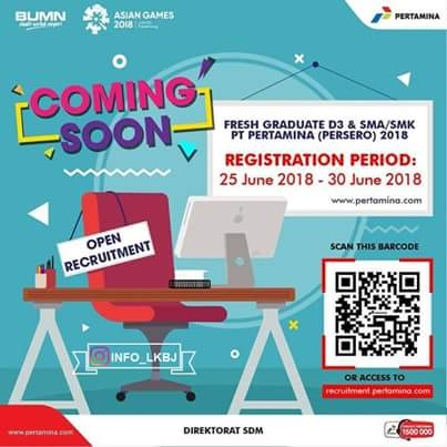 Lowongan Kerja Pertamina Tasikmalaya 2018 S1/D3/SMK