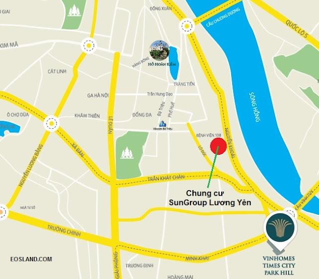 Vi trí Chung cư Sun Group Lương Yên