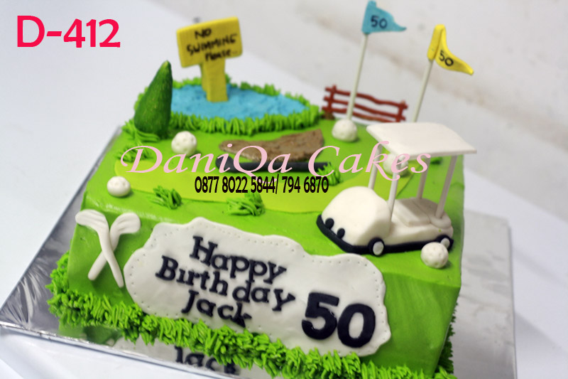 DaniQa Cake and Snack Golf Birthday Cake