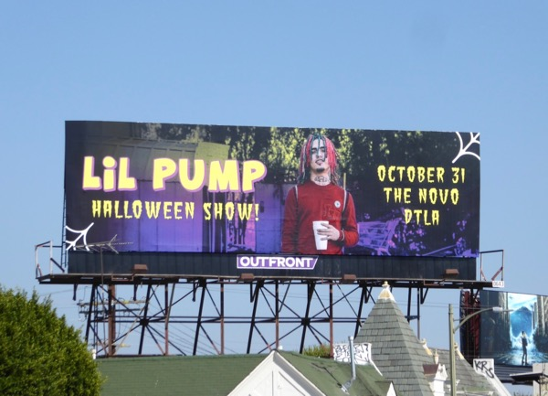 Lil Pump Halloween Show billboard