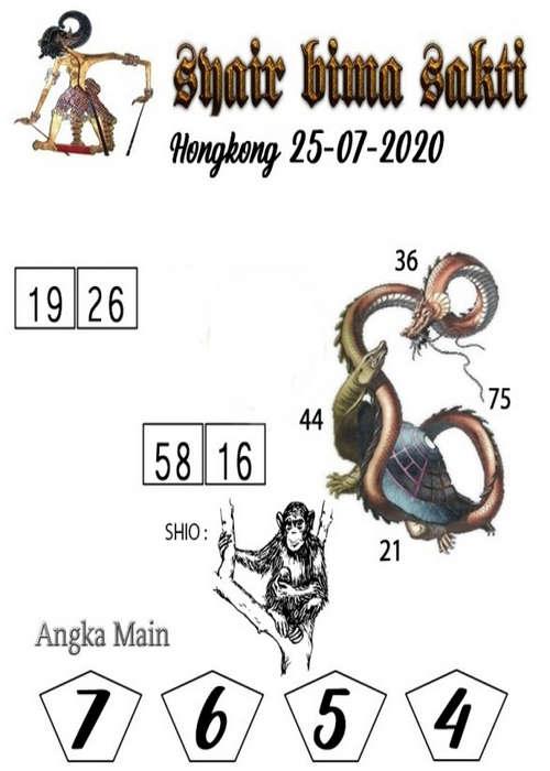 Kode syair Hongkong Sabtu 25 Juli 2020 177