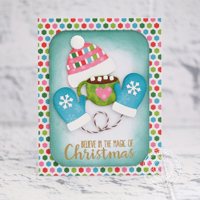 Sunny Studio Stamps: Warm & Cozy Dies Holiday Style Holiday Cheer Colorful Christmas Card by Lexa Levana