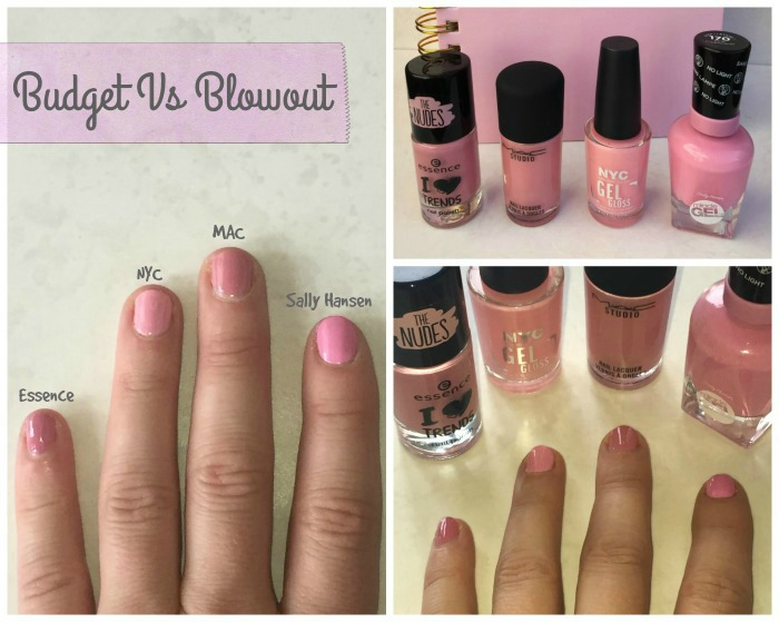 Budget vs Blowout Nail Polish MAC NYC Essence Sally Hansen