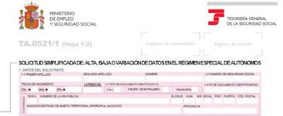 Extracto TA0521 - Alta en SS