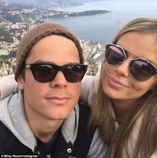 Milos with his girlfriend on a date