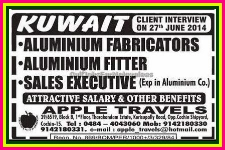 Jobs In Kuwait For The Post Of Salesman And Labour