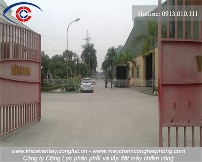 Lối vào công ty Hoàng Việt.