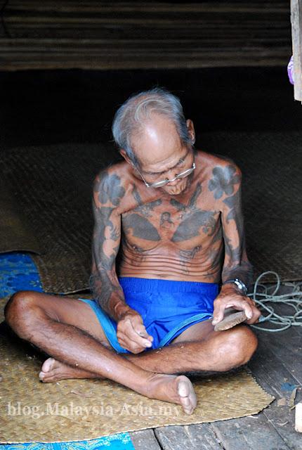 Elderly Iban Man Sarawak