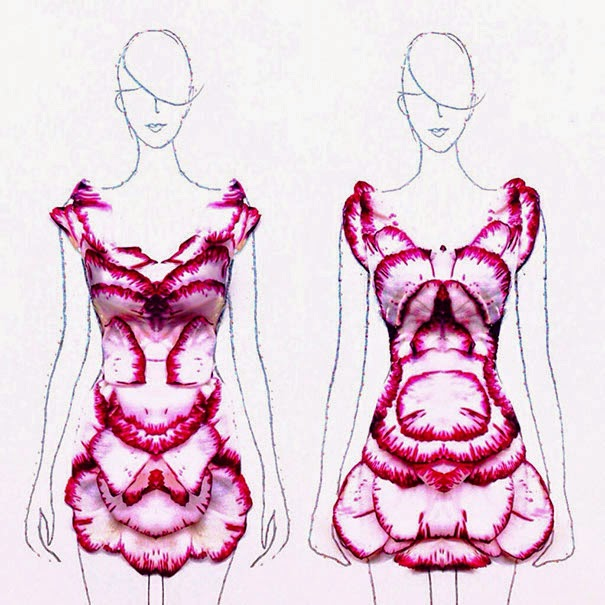 fashion illustrations flower petals grace ciao