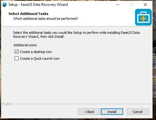 Cara install EaseUS data recovery wizard pada Windows 8