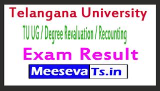 Telangana University  TU UG / Degree Revaluation / Recounting Exam Results
