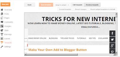 Blogger TEMPLETE HTML EDITOR