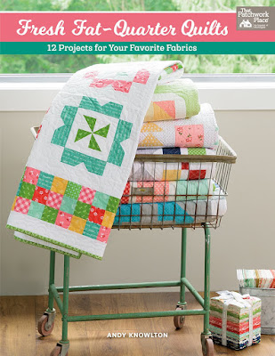 Fresh Fat Quarter Quilts Book by Andy Knowlton - 12 quilt projects that are all fat quarter friendly.  A great way to use up your favorite fq bundles!
