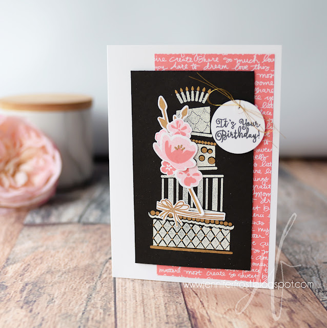 Cake Crazy, Kate Spade Style, Jar of Love, Papercraft by Jennifer Frost, Stampin' Up!, TGIF Challenge