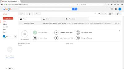 Halaman Dashboard Pertama Kali Membuat Gmail