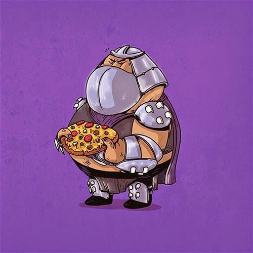Fat Super Hero Gemuk - Ninja Turtle Fat Shredder