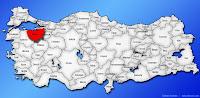 Bursa ilinin Türkiye haritasında gösterimi