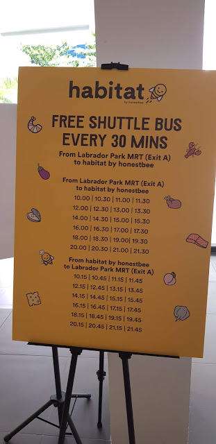 Habitat By honestbee free shuttle timetable