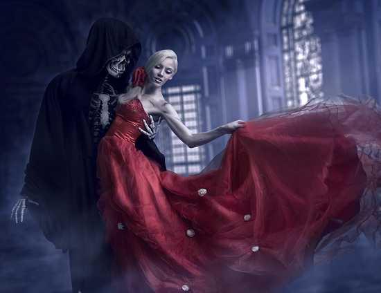 Sonar con mi mujer vestida de rojo