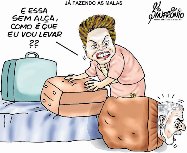Fazendo as malas | Charge do dia