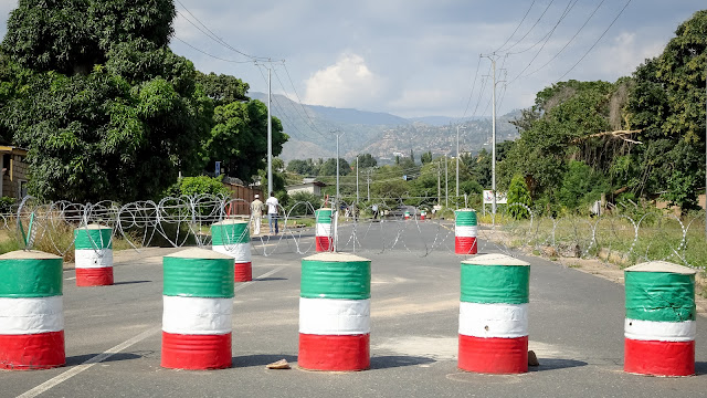 Roadblock in Bujumbura city center