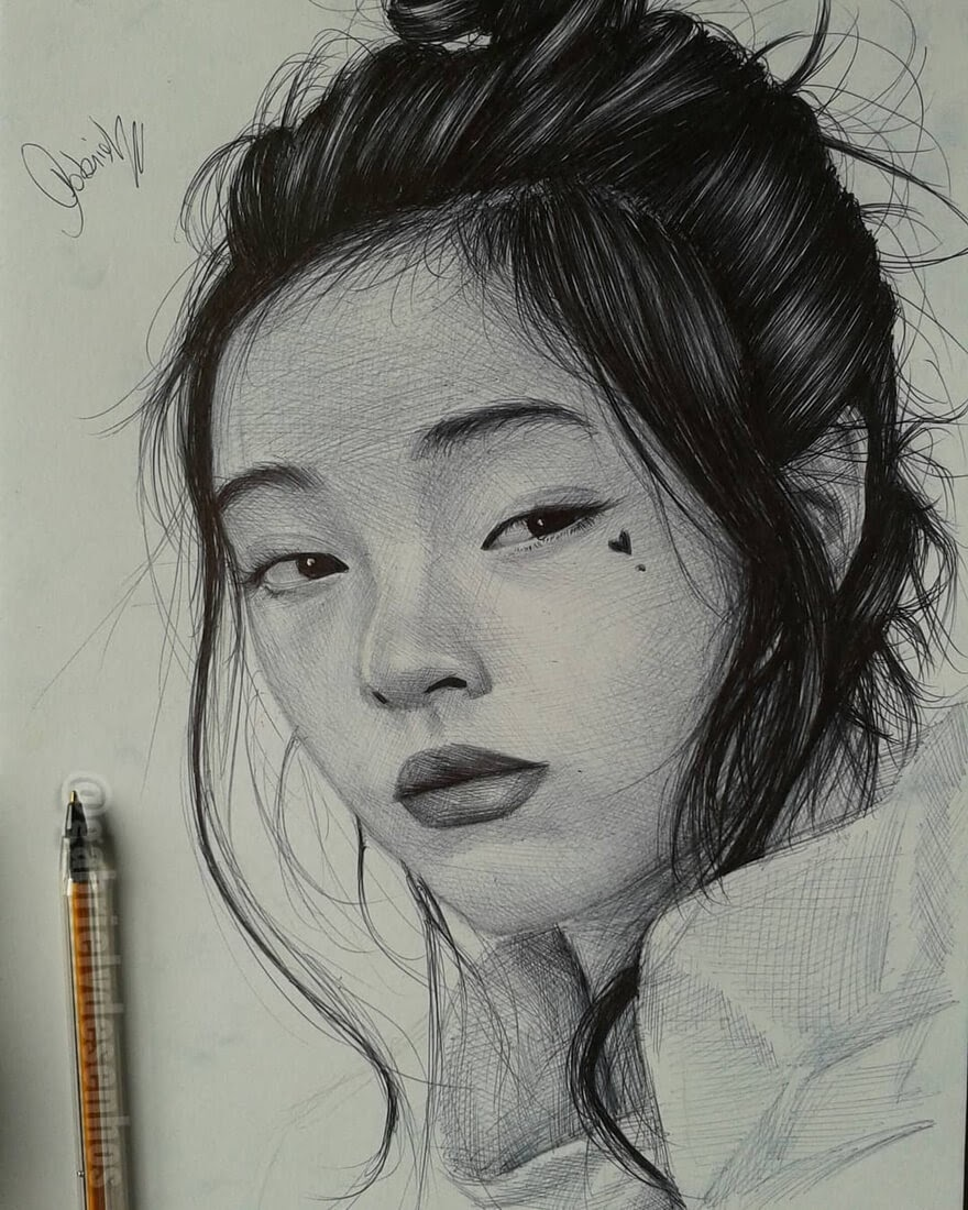 10-Not-Interested-Gabriel-Vinícius-Ballpoint-Pen-Portraits-with-very-Different-Expressions-www-designstack-co