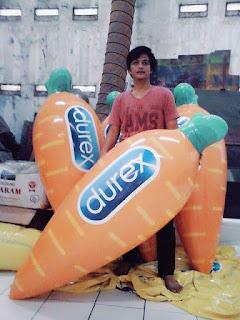 balon bentuk wortel produk durex