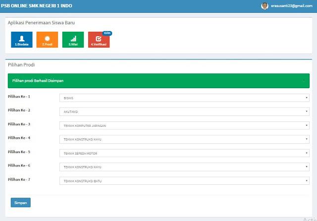 Input Biodata PSB Online