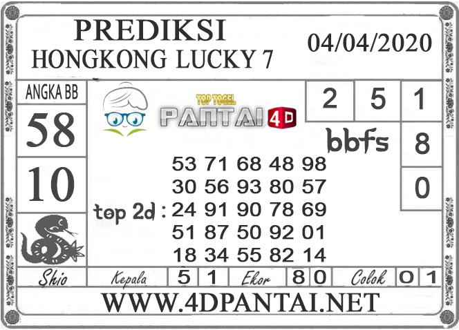 PREDIKSI TOGEL HONGKONG LUCKY 7 PANTAI4D 04 APRIL 2020