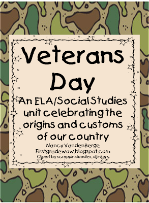 Veterans day book for first grade