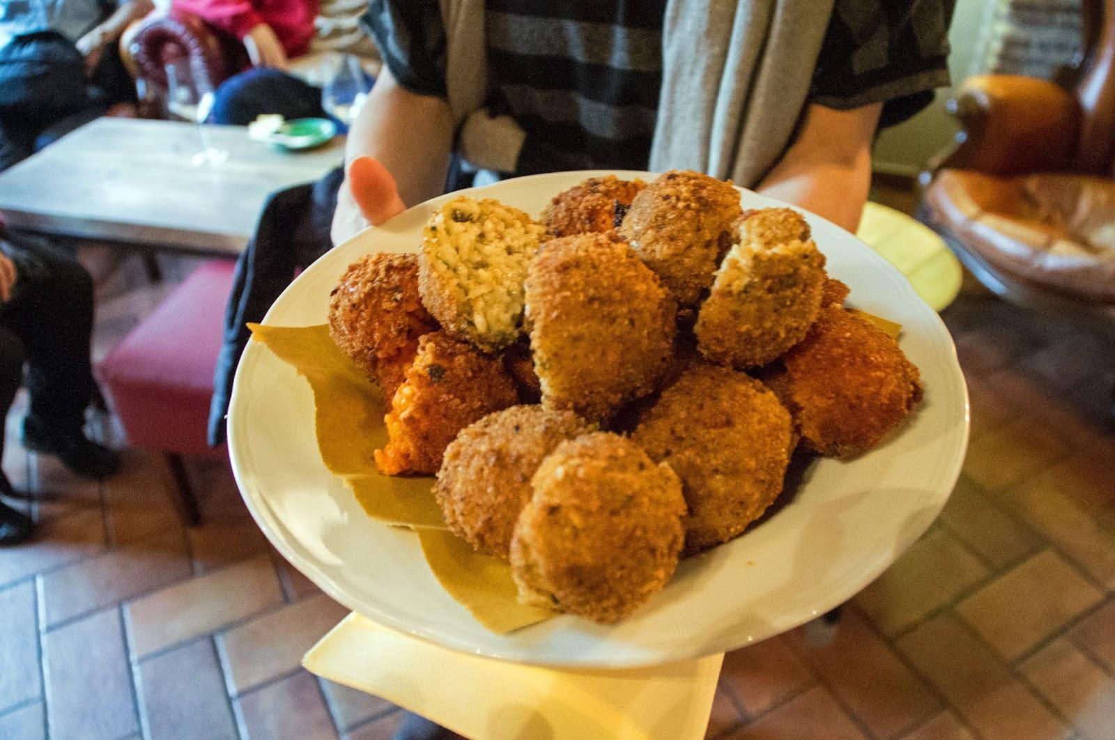 Suppli Balls on Secret Food Tour Rome
