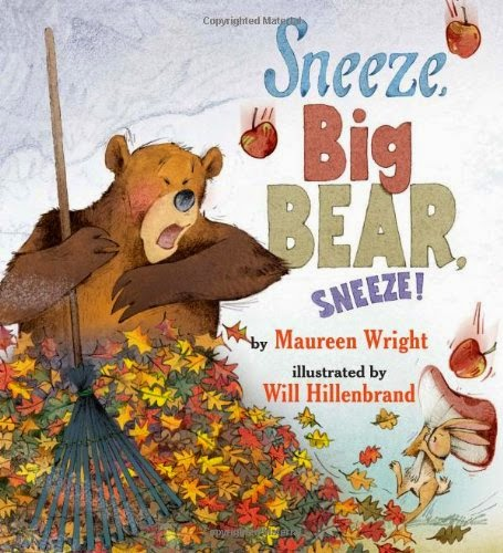 Sneeze, Big Bear, Sneeze, part of children's book review list about fall