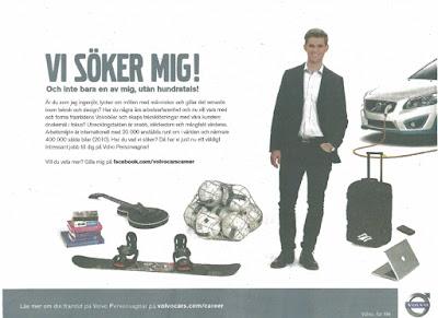 VI SÖKER MIG - VOLVO annons 2011